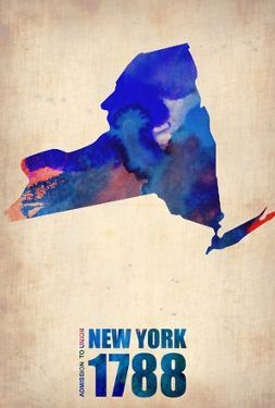 New York Watercolor Map by NaxArt