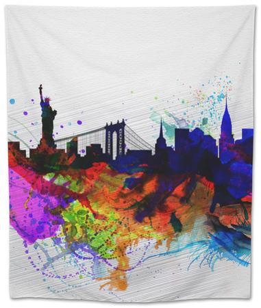New York Watercolor Skyline 1 by NaxArt