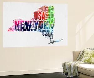New York Watercolor Word Cloud by NaxArt