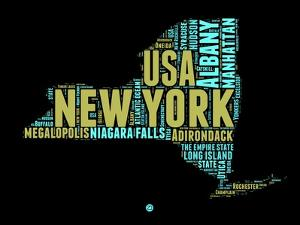 New York Word Cloud 1 by NaxArt