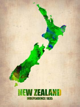 New Zealand Watercolor Map by NaxArt
