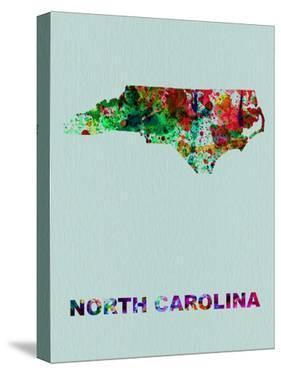 North Carolina Color Splatter Map by NaxArt