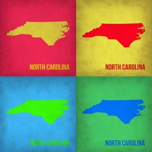 North Carolina Pop Art Map 1 by NaxArt