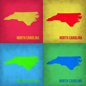 North Carolina Pop Art Map 1 by NaxArt