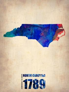 North Carolina Watercolor Map by NaxArt