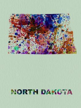 North Dakota Color Splatter Map by NaxArt