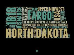North Dakota Word Cloud 1 by NaxArt