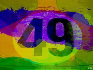 Number 49 Porsche Watercolor by NaxArt