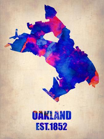 Oakland Watercolor Map by NaxArt
