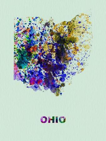 Ohio Color Splatter Map