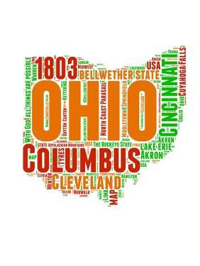 Ohio Word Cloud Map by NaxArt