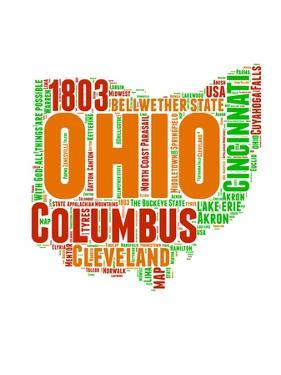 Ohio Word Cloud Map by NaxArt