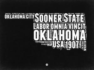 Oklahoma Black and White Map by NaxArt