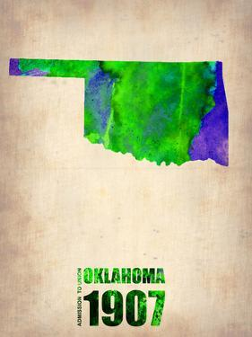 Oklahoma Watercolor Map by NaxArt
