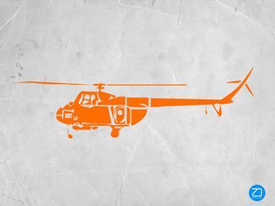 Orange Helicopter by NaxArt