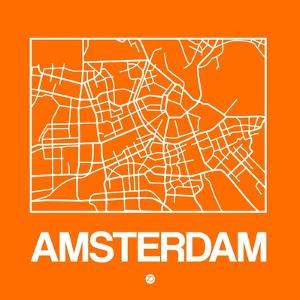Orange Map of Amsterdam by NaxArt