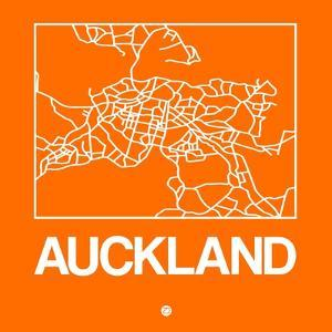 Orange Map of Auckland by NaxArt