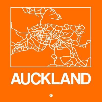 Orange Map of Auckland by NaxArt