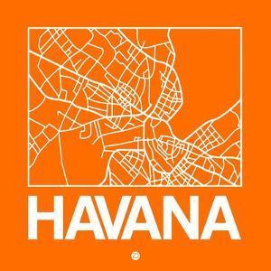 Orange Map of Havana by NaxArt
