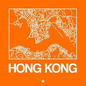 Orange Map of Hong Kong by NaxArt