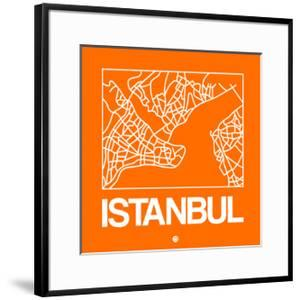 Orange Map of Istanbul by NaxArt