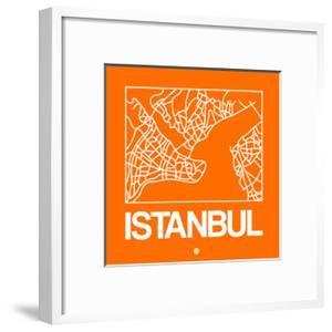 Orange Map of Istanbul by NaxArt