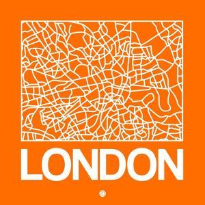 Orange Map of London by NaxArt