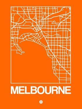 Orange Map of Melbourne by NaxArt