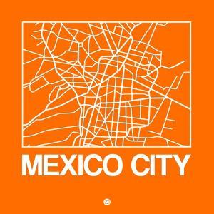 Orange Map of Mexico City by NaxArt