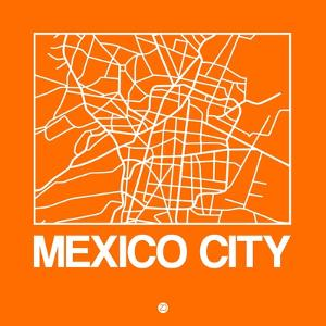 Orange Map of Mexico City by NaxArt