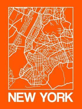 Orange Map of New York by NaxArt