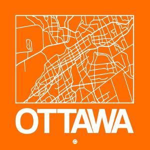 Orange Map of Ottawa by NaxArt