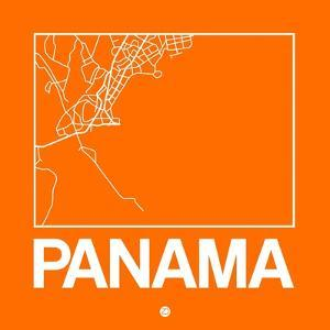 Orange Map of Panama by NaxArt