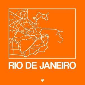 Orange Map of Rio De Janeiro by NaxArt