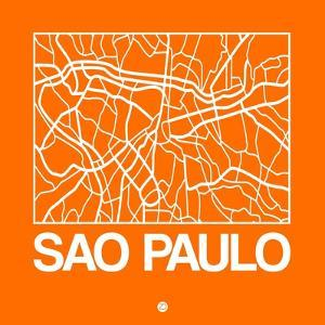 Orange Map of Sao Paulo by NaxArt