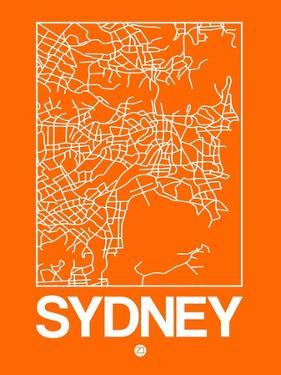 Orange Map of Sydney by NaxArt