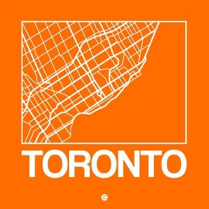 Orange Map of Toronto by NaxArt