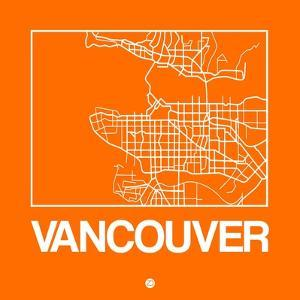 Orange Map of Vancouver by NaxArt