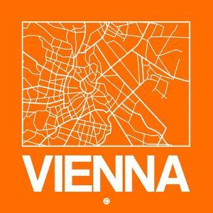 Orange Map of Vienna by NaxArt