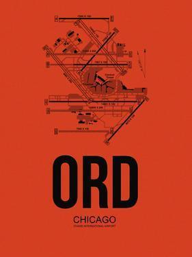 ORD Chicago Airport Orange by NaxArt