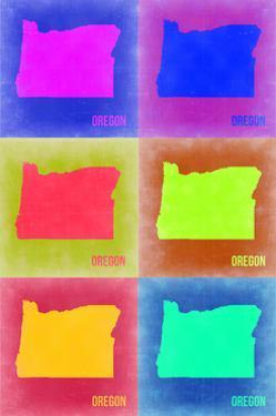 Oregon Pop Art Map 2 by NaxArt