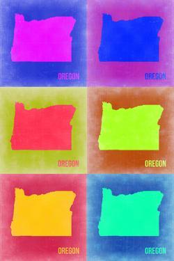 Oregon Pop Art Map 2 by NaxArt