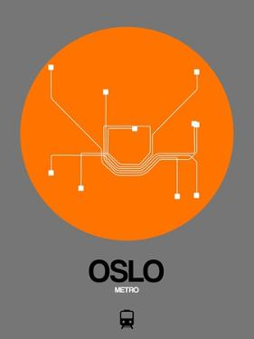 Oslo Orange Subway Map by NaxArt