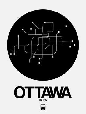 Ottawa Black Subway Map by NaxArt