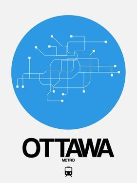 Ottawa Blue Subway Map by NaxArt