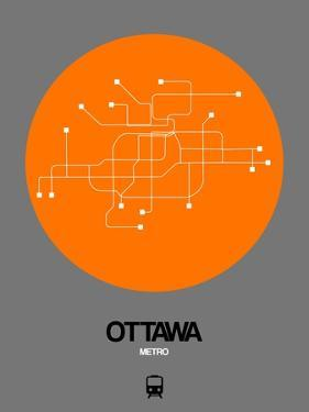 Ottawa Orange Subway Map by NaxArt