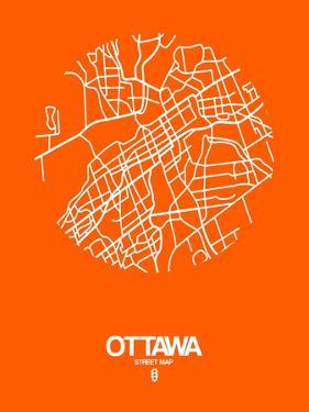 Ottawa Street Map Orange by NaxArt