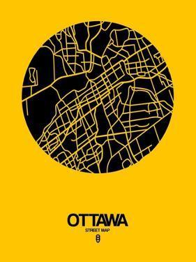Ottawa Street Map Yellow by NaxArt