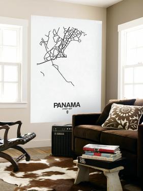 Panama Street Map White by NaxArt