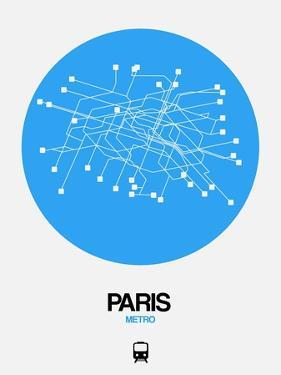 Paris Blue Subway Map by NaxArt
